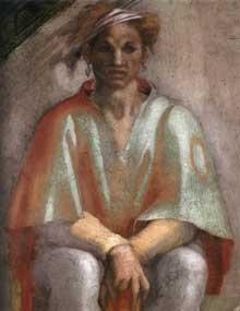 illustration - Extrait de la fresque de la chapelle sixtine par Michel Ange : Aminadab