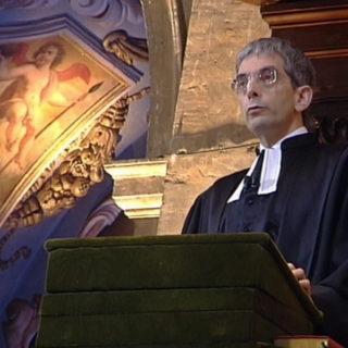 Pasteur en train de prêcher