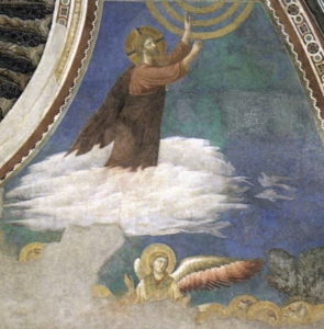 Fresque de Giotto à Assise, représentant l'Ascension du Christ