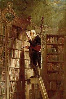 Tableau de Spitzweg représentant un bibliothécaire