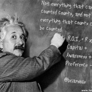 Albert Einstein (illustration) - 'Not everything that can be counted counts, & not everything that counts can+be+counted+-+Einstein' http://www.flickr.com/photos/50698336@N00/6087889504 Found on flickrcc.net