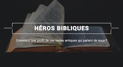 Logo du cycle : une bible sur fond noir avec le titre