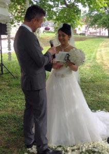 illustration : cérémonie de mariage dans la nature