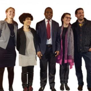 Gabriel Amisi, Nicolas Lüthi, Annick Monnot, Elisabeth Schenker et Nathalie Schopfer