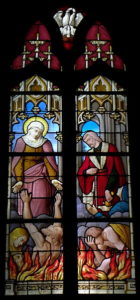 illustration : Vitrail de l'église Saint-Pierre de Noyal-sur-Vilaine (Wikimedia Commons)