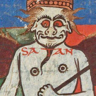 Enluminure du 11e siècle - satan [BnF, Latin 8878, 11th c.]