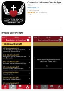 l'application confession sur iphone