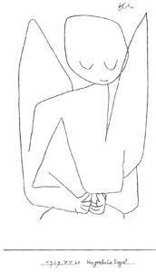 ange pensif de Paul Klee (illustration)