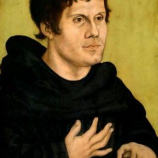Portrait de Martin Luther jeune par peint par Lucas Cranach l'Ancien (wikicommons - Germanisches Nationalmuseum)