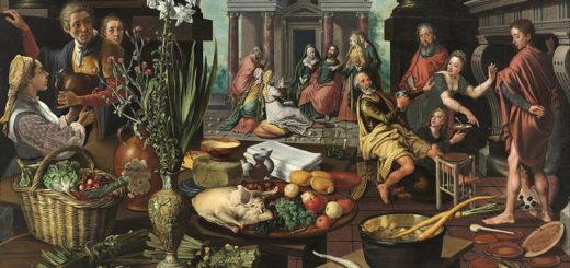 Pieter Aertsen - Christ dans la maison de Marthe et Marie -1553 (Museum Boijmans) photo wikicommons
