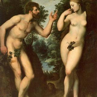 Peinture de Rubens : Adam et Eve vont manger le fruit défendu - wikicommons
