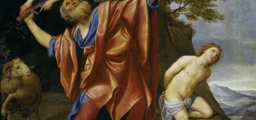 Abraham sacrifiant (ligature d'Isaac) peint par Le Dominiquin (1628-29)
