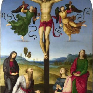 Crucifixion peinte par Raphaël en 1503 - National Gallery de Londres