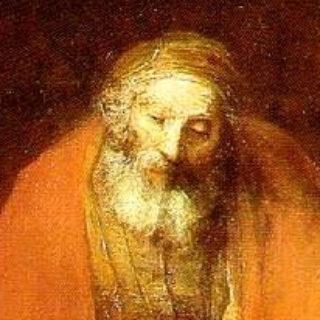 """Extrait du visage du père dans le tableau de Rembrandt """"le fils prodigue"""""""