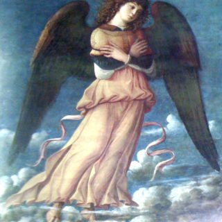 ange, photographié dans une église de Murano