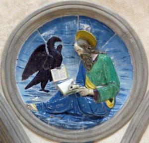 Saint Jean l'évangéliste, luca della Robbia, Cappella pazzi