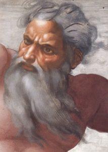 Le visage de Dieu selon Michel Ange (chapelle sixtine)