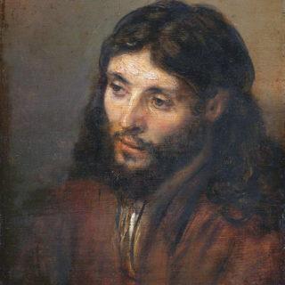 Peinture de Rembrandt représentant Jésus en homme tout simple - Tête du Christ (1648) conservé à la Gemäldegalerie de Berlin - wikicommons