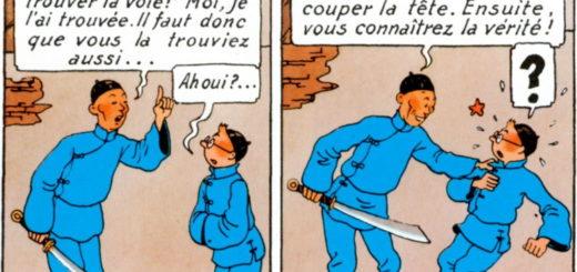 """Extrait de l'album """"Le Lotus Bleu"""" des aventures de Tintin par Hergé"""