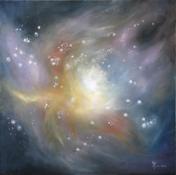 """Peinture d'Anne-Christine Menu """"Pouponnière d'étoiles"""""""