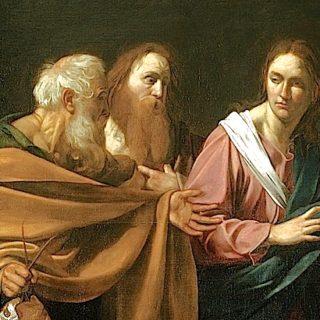 Caravage : l'appel des deux premiers apôtres par Jésus (1602)