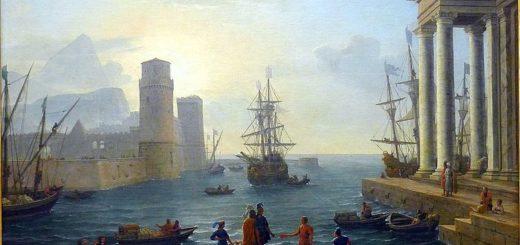 Claude Gelée : l'embarquement (Musée du Louvre)