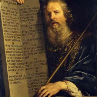Philippe de Champaigne - Moïse et les 10 paroles Wikicommons (Hermitage Museum)