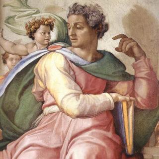 illustration - Un prophète représenté par Michel ange, chapelle sixtine