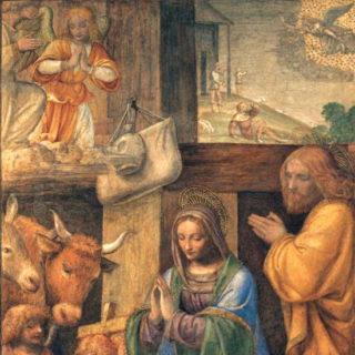 Peinture de Luini représentant la Nativité (wikicommons)