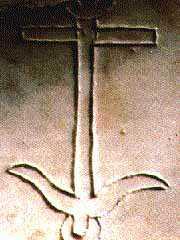 image chrétienne des premiers siècles : ancre symbolosant l'espérance chrétienne