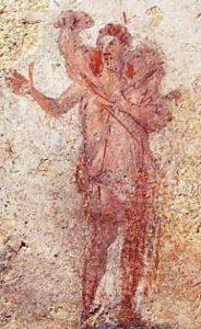 image chrétienne des premiers siècles : un berger - Orant