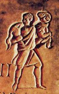 image chrétienne des premiers siècles : Christ en berger portant un bélier