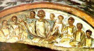 image chrétienne des premiers siècles : Le Christ et les apôtres