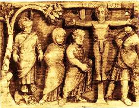 image chrétienne des premiers siècles : crucifixion