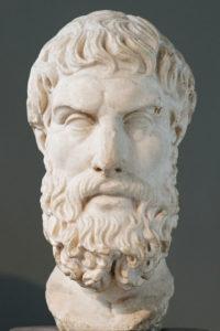 Portrait d'Épicure, copie romaine d'un original hellénistique, British Museum (wikicommons)