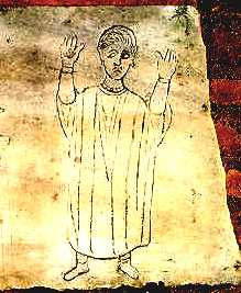 image chrétienne des premiers siècles : Orant