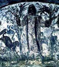 image chrétienne des premiers siècles : Christ en berger