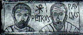 image chrétienne des premiers siècles : chrisme