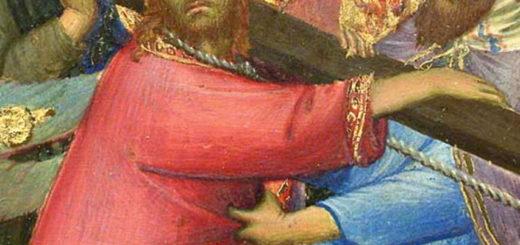 Peiture du XIVe siècle représentant Jésus portant sa croix (Simone Martini)