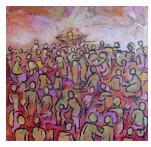 Enseignement à la foule (Marc 4. 1-20) - peinture de © Corinne Vonaesch