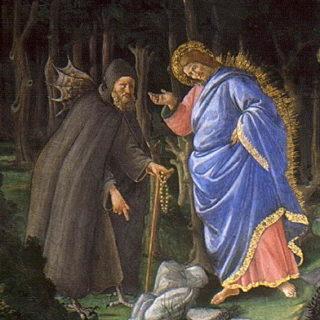 Botticelli - détail de la tentation du Christ (musée du Vatican)