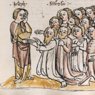 Joseph et ses frères - Rüdiger Schopf, manuscrit de 1396, Basel, Universitätsbibliothek, MS. A II 1