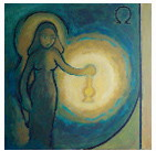 Femme dans l'attente (Matthieu 25. 1-13)- peinture de © Corinne Vonaesch