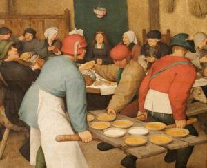 Pieter Brueghel - Extrait du banquet de noces
