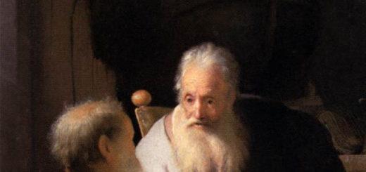 Rembrandt : deux hommes discutant (Paul et Pierre ?) - National Gallery of Victoria, Melbourne
