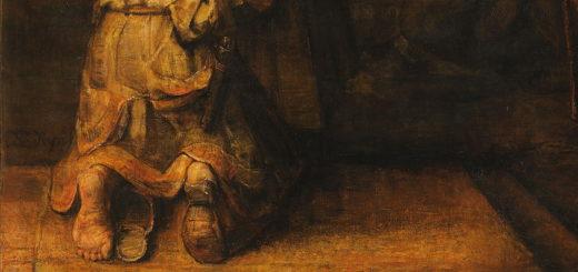 Rembrandt - Le père accueillant le retour du fils prodigue