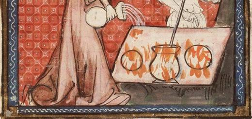 Enluminure sur une Bible du XIVe siècle