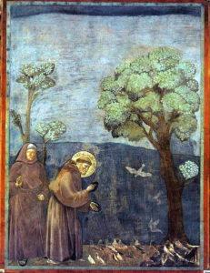 Giotto : François d'Assise prêchant aux oiseaux