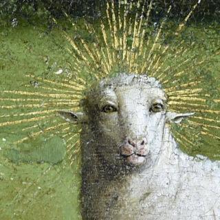 Retable de Van Eyck : l'agneau mystique