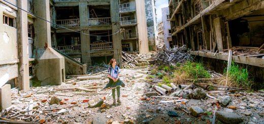 fillette dans une ville dévastée par une catastrophe ou par la guerre - Image parFree-Photos de Pixabay